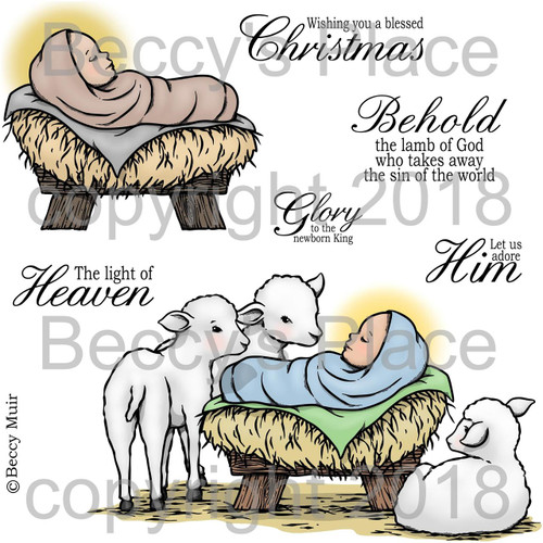 Lamb of God digital stamps