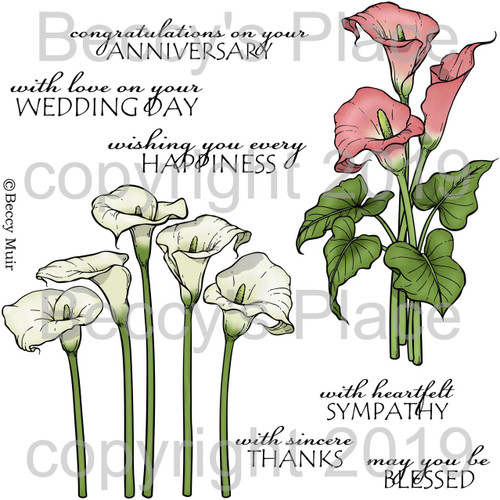Lovely Lilies digital stamps