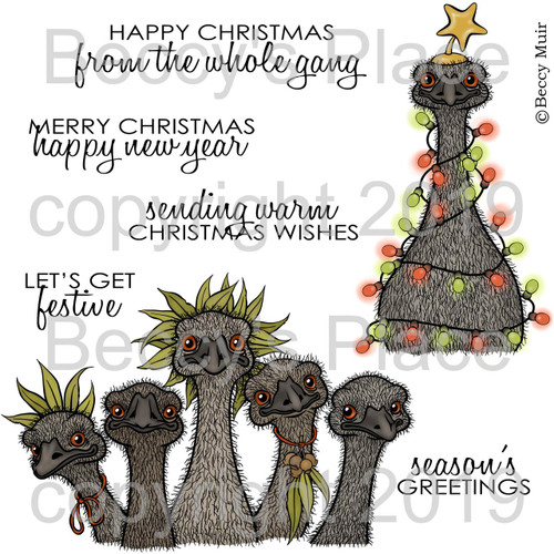 Emu Parade digital stamps