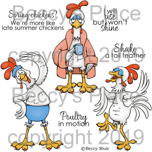 Poultry In Motion digital stamps