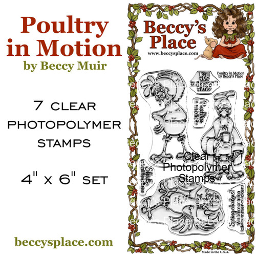 Poultry In Motion clear stamps