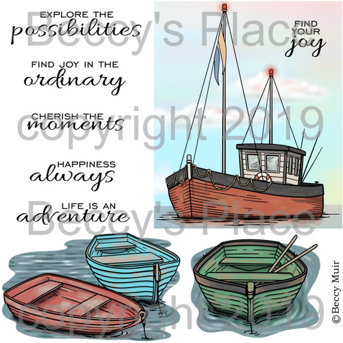 Lakeside digital stamps