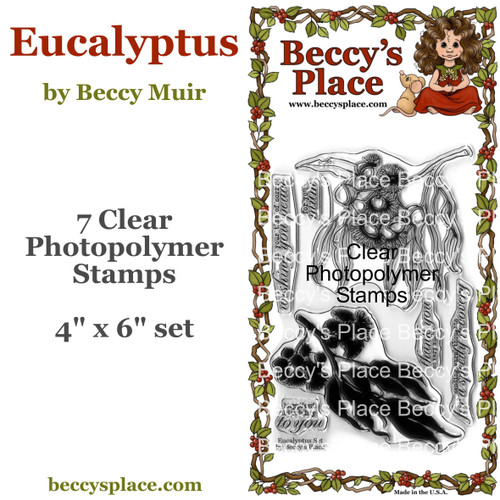 Eucalyptus clear stamps