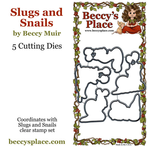 Slugs and Snails cutting dies
