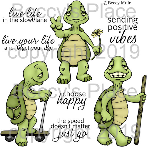 The Slow Lane digital stamps