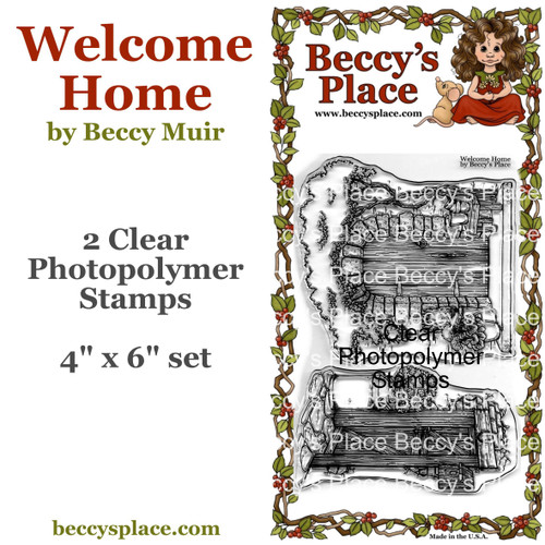 Welcome Home clear stamps