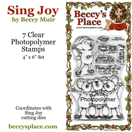 Sing Joy clear stamps