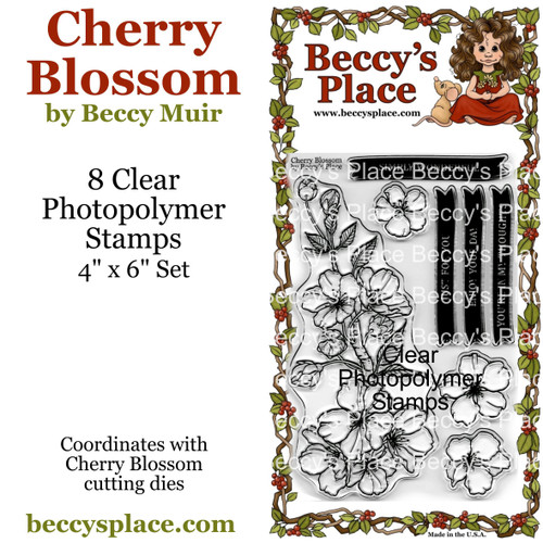 Cherry Blossom clear stamps