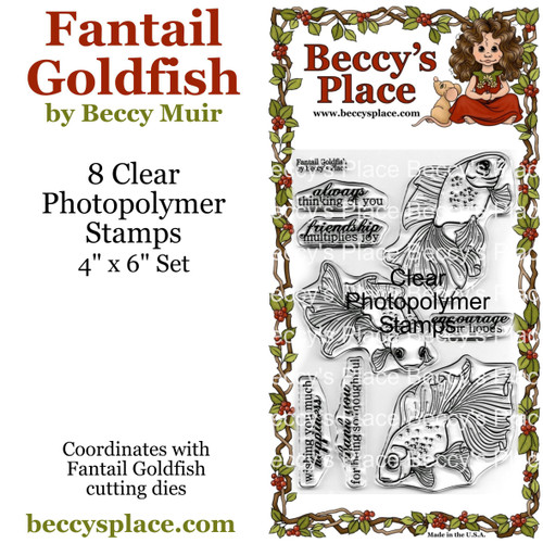 Fantail Goldfish clear stamps