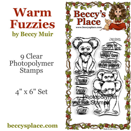 Warm Fuzzies clear stamps