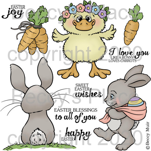 Easter Joy digital stamps