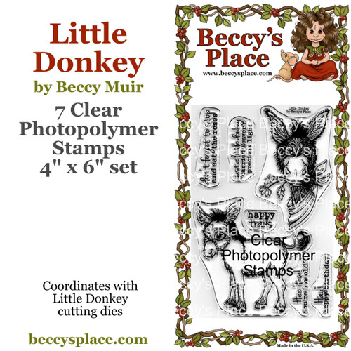 Little Donkey clear stamps