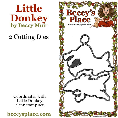 Little Donkey cutting dies