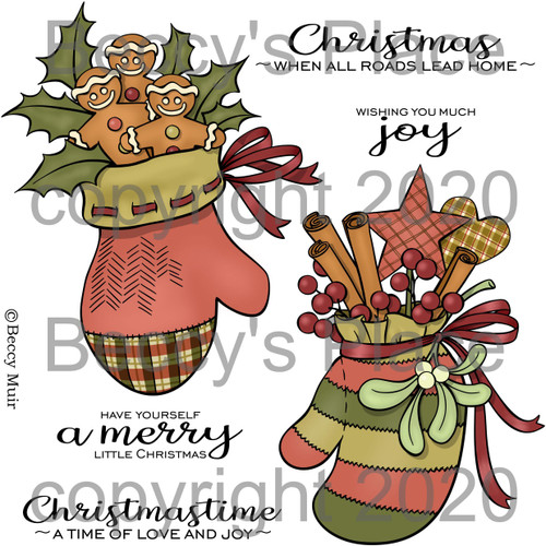 Home For The Holidays digital stamps