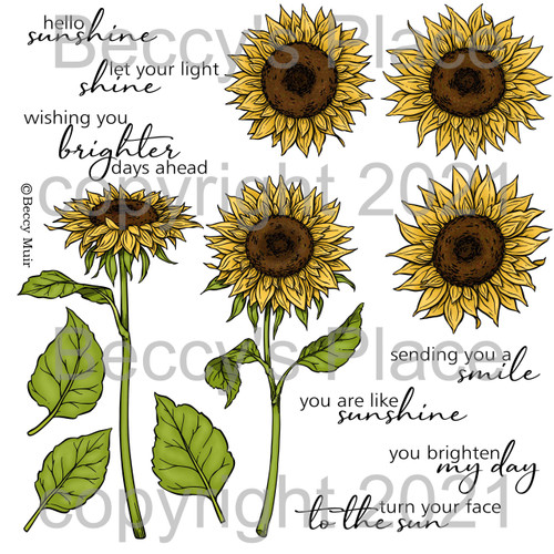 Hello Sunshine digital stamps