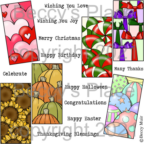 Celebration Panels digital stamps