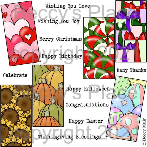 Celebration Panels digital stamps