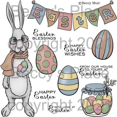 Easter Blessings digital stamps
