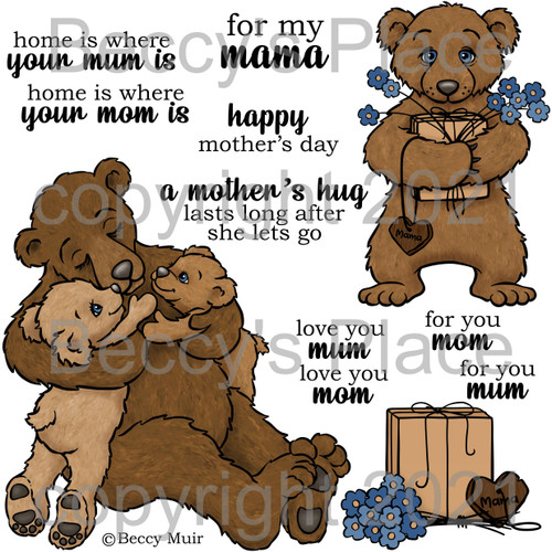My Mama digital stamps