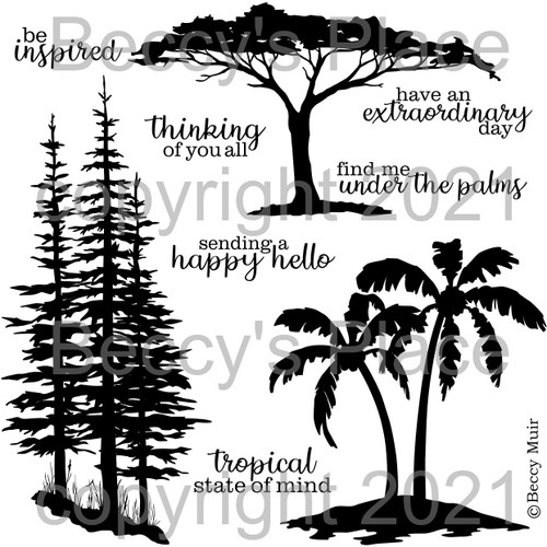 Tree Scapes digital stamps