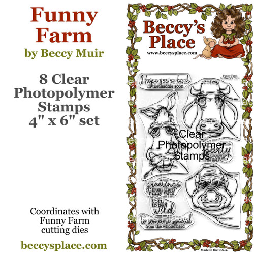 Funny Farm clear stamps