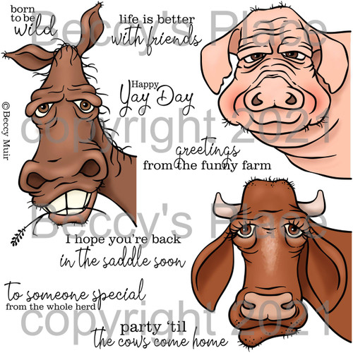 Funny Farm digital stamps