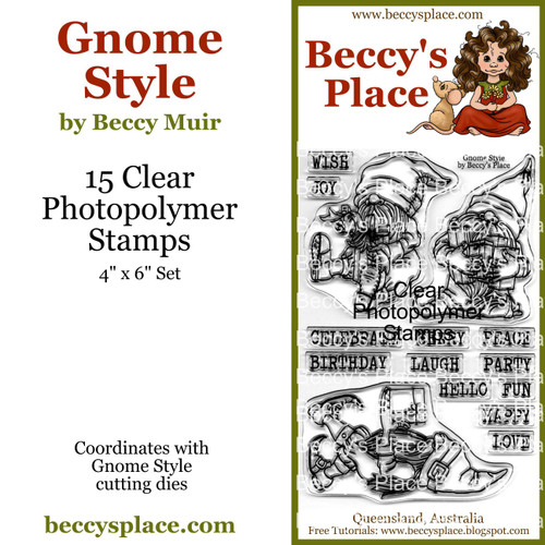 Gnome Style clear stamps