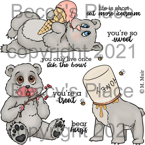 Beary Delicious digital stamps