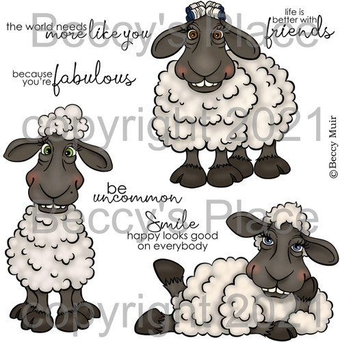 Warm and Woolly digital stamps