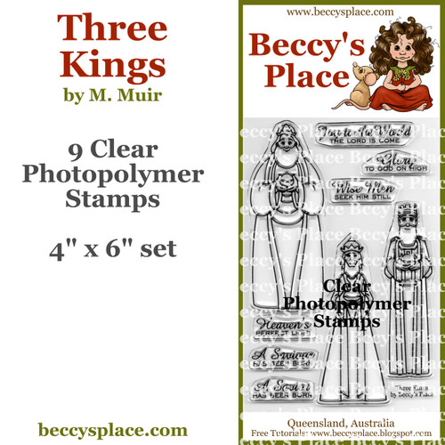 Three Kings clear stamps