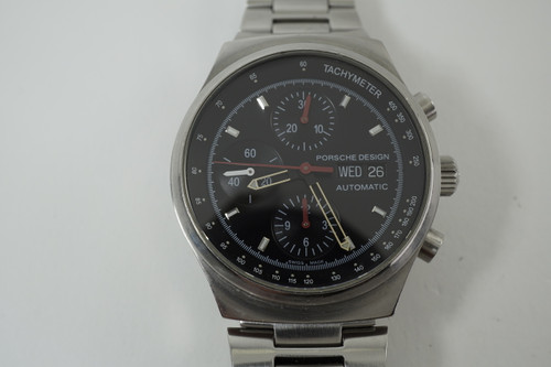 Porsche Design 674 6625.41/1 Chronograph by Eterna automatic c. 2000's modern timepiece pre owned for sale houston fabsuisse