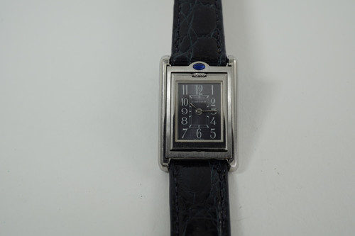 Cartier 2385 Basculante Reverso stainless steel ladies c. 2000's pre owned for sale houston fabsuisse
