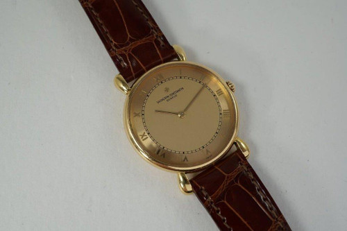 Vacheron Constantin 33084 Les Historiques 18k yellow gold c. 1990's original modern for sale houston fabsuisse