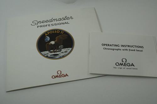 Omega Speedmaster Certificate of Authenticity limited series of 9999 booklet pre owned for sale houston fabsuisse