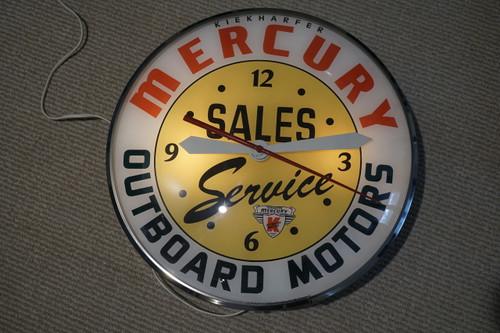 PAM Mercury Kiekharfer Outboard Motors Clock dates 1970's