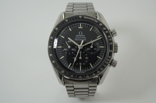 Omega 145.022 Speedmaster 1st watch worn on the moon steel c. 1969 pre owned vintage for sale houston fabsuisse