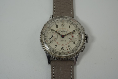 Breitling 769 Chronomat Chronograph stainless steel c. 1940's original dial vintage pre owned for sale houston fabsuisse