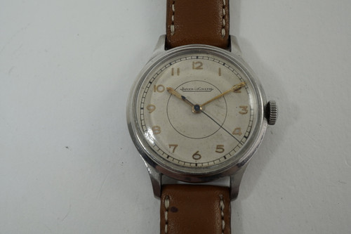 Jaeger LeCoultre Military Sweep Second World War II era dates 1940's vintage pre owned for sale houston fabsuisse
