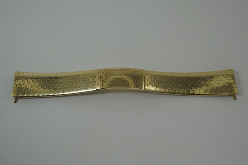 Omega Brick Style Bracelet Constellation model 368.813 rare vintage 18k yellow gold c. 1960's pre owned for sale houston fabsuisse