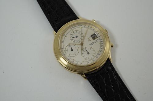 Audemars Piguet Huitieme Chronograph dates 1980's 18k yellow gold automatic pre owned for sale houston fabsuisse