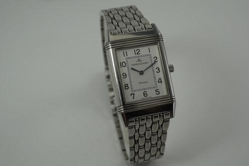 Jaeger LeCoultre 250.8.86 Classique Reverso w/ bracelet dates 1990-2000's modern pre owned for sale houston fabsuisse