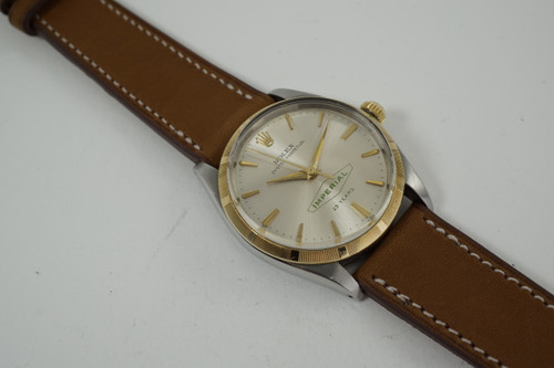 Rolex 1003 Award Watch Imperial 25 year logo dial mint steel & 14k dates 1964