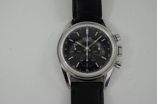 Heuer CS311 Carrera Chronograph stainless steel dates 1990's modern original pre owned for sale houston fabsuisse