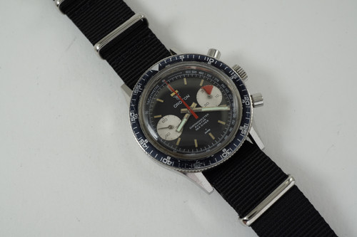 Croton Chronometer Aviator Sea Diver Chronograph stainless steel dates 1960's original vintage pre owned for sale houston fabsuisse