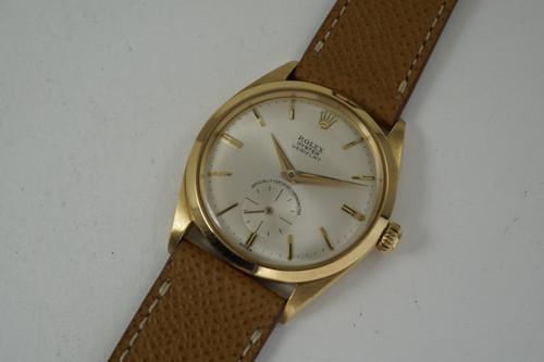 Rolex 6512 Veriflat Chronometer 18k yellow gold dates 1961 vintage original pre owned for sale houston fabsuisse