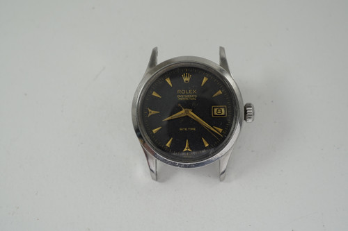 Rolex 6518 Rite Time rare model original dial stainless steel 1954 vintage automatic for sale houston fabsuisse