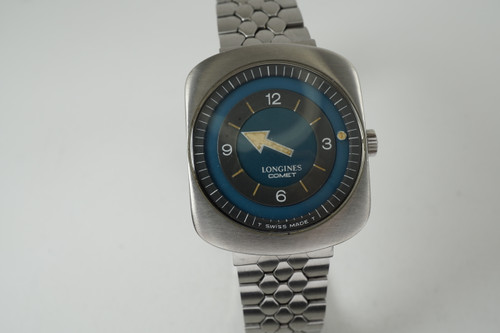 Longines 8475 Comet w/ mystery dial stainless dates 1970's