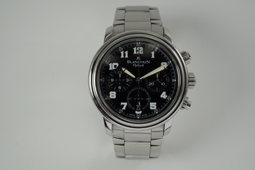 Blancpain Leman Flyback Chronograph stainless steel w/ bracelet c. 2000's automatic modern for sale houston fabsuisse