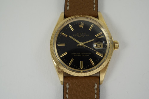 Rolex 1507 Date original chronometer papers, tags and box dates 1968-70  vintage pre owned for sale houston fabsuisse