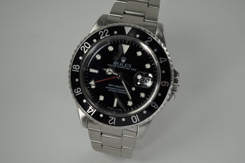 Rolex 16710 GMT Master II stainless steel dates 1995 modern pre owned for sale houston fabsuisse